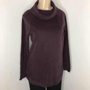 PURE JILL Purple Soft Touch Tunic with Pockets XS